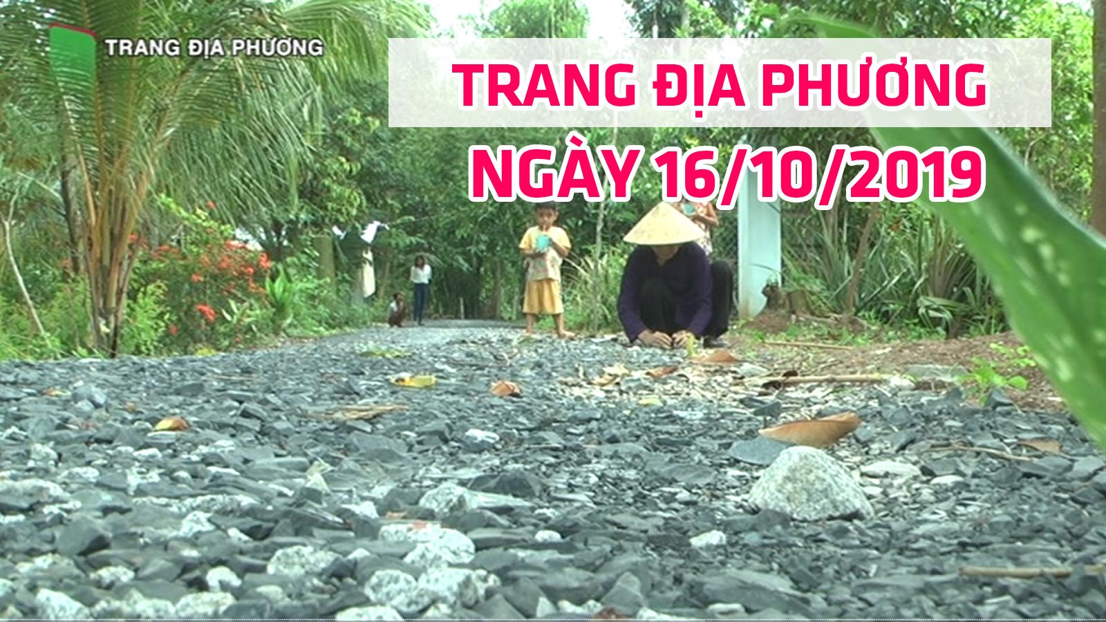 Trang tin địa phương - Thứ tư, 16/10/2019 - Huyện Cao Lãnh