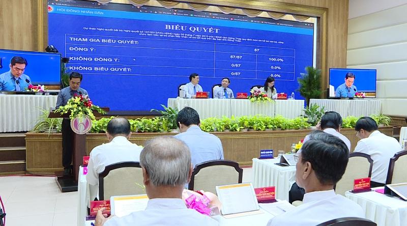 Video clip: Kỳ họp thứ mười lăm HĐND tỉnh Đồng Tháp khóa IX, buổi làm việc sáng ngày 9/7/2020