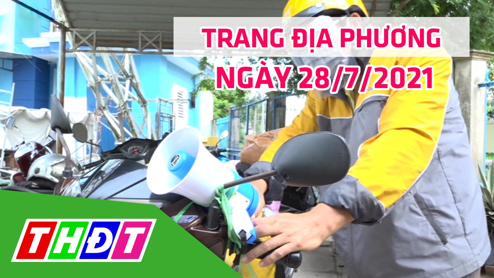 Trang địa phương - Thứ Tư, 28/7/2021 - H.Lai Vung
