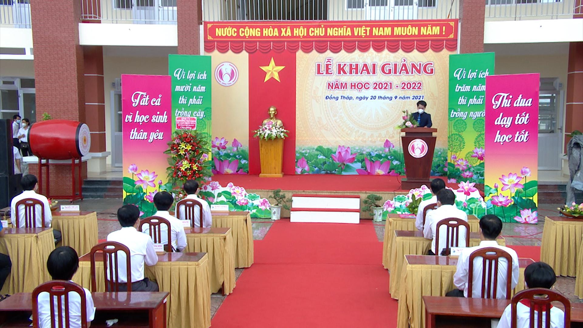 Lễ khai giảng năm học 2021 - 2022 tại Trường THCS Kim Hồng, TP. Cao Lãnh