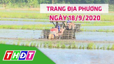 Trang địa phương - Thứ Sáu, 18/9/2020 - H.Thanh Bình