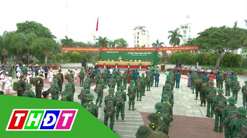 Lễ giao nhận quân năm 2021 tại TP. Cao Lãnh